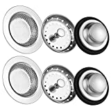6 Pack of Kitchen Sink Stopper Strainer,Carry360 Anti-Clogging Stainless Steel Sink Dispos...