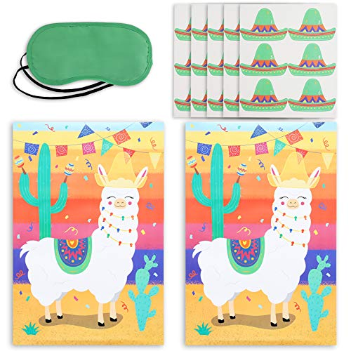 Blue Panda Pin The Tail on The Llama Party Game (2 Pack)