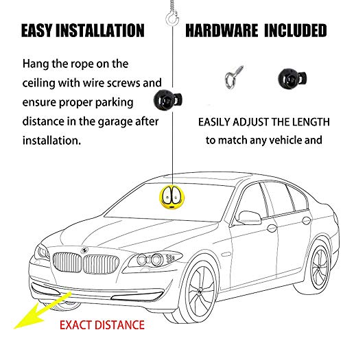PAUTO-P Double Garage Parking Aid-Parking Ball Guide System,Parking Assistant kit Includes a retracting Ball Sensor Assist Solution.A Perfect Garage Parking Indicator