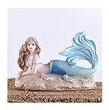 ZFF Regalo de la muchacha del tanque de habitaciones acuario de peces de la sirena decoración del dormitorio de los niños (Color : B)