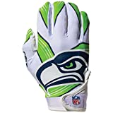 Franklin Sports Youth Football Receiver Gloves For Kids, NFL Team Logos and Silicone Palm , Medium/Large