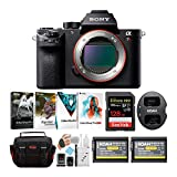 Sony Alpha a7RII Mirrorless Digital Camera Body with 2 Power Batteries, 1 Dual Charger and 128GB SDXC Accessory Bundle (6 Items)