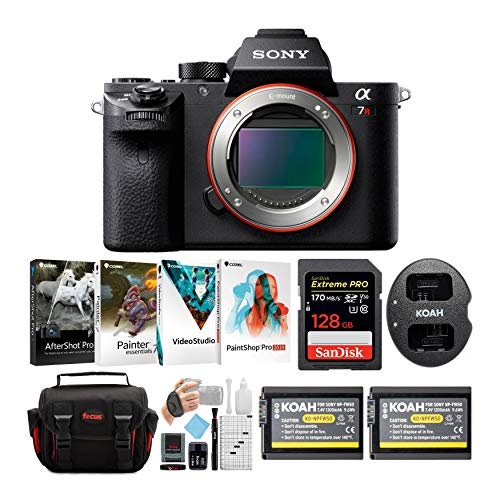 Sony Alpha a7RII Mirrorless Digital Camera Body with 2 Power Batteries, 1 Dual Charger and 128GB SDXC Accessory Bundle (6...