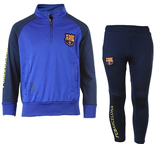 Kinder-Trainingsanzug Barça, offizielles Produkt von FC Barcelona, Kindergröße, für Jungen 10 Jahre marineblau