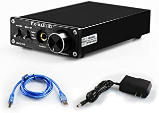 FX AUDIO Digital to Analog Audio Converter 192kHz DAC Converter PC-USB Coaxial Optical Input 6.5mm Headphone Output RCA Ho...