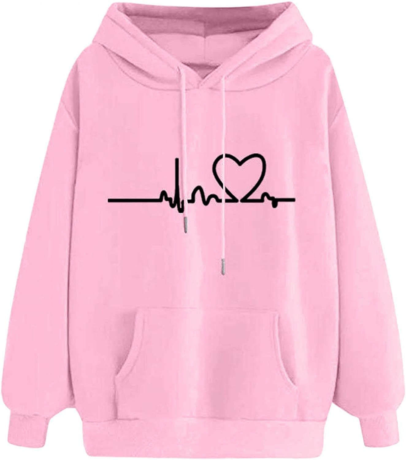Solid Color New mail order Love Heart Graphic Basic New Shipping Free Shipping Hoodies for Blouse Wom Tops