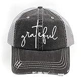 R2N Fashions Trucker Style Grateful - Gorras de béisbol para mujer