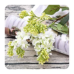 Silk Lilac fake flowers home new Year decoration accessories wedding party bride bouquet diy material artificial flowers-white