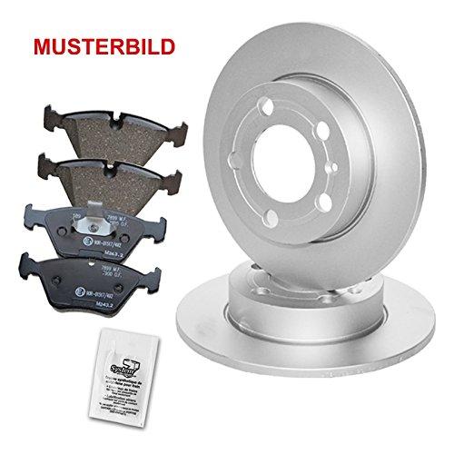 ATEC Bremsscheiben Voll mit Bremsbeläge Bremsklötze mit Zubehör Vorne, Ø286 mm