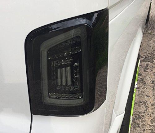 Voll LED Rückleuchten schwarz graue Lightbar LED Laufblinker RV35ALLBS-W