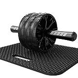 Moligh doll Fitness Ventre Roue Multifonctionnel Dispositif Abdominal Trois Roues Roulant Ventre...