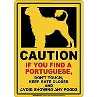 CAUTION IF YOU FIND マグネットサイン:ポーチュギーズ/ライオンカット(スモール)イエロー 注意 DON'T TOUCH 触れない/触らない KEEP GATE CLOSED ドアを閉める 英語 防犯 アメリカンマグネットステッカー