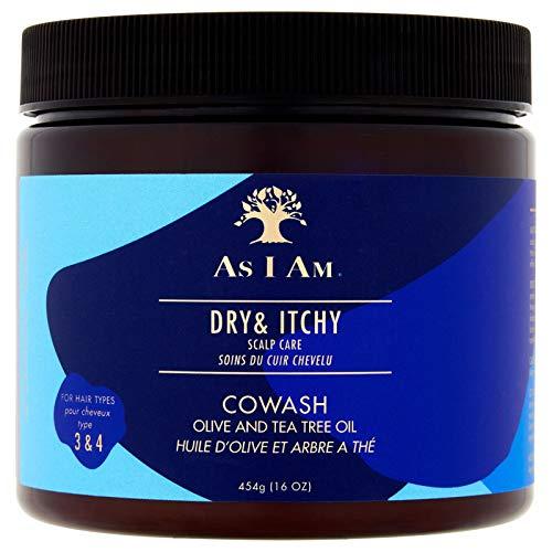 As I Am - Tratamiento para el cuero cabelludo seco y con picazón, con aceite de oliva y aceite de árbol de té, 454 g