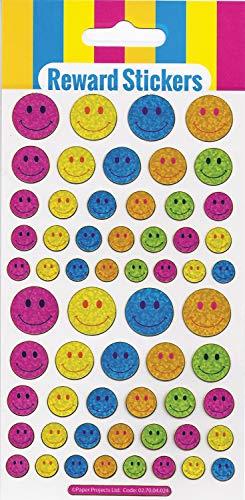 Paper Projects 01.70.04.024 Big Smiles Autocollants de récompense réutilisables Blanc 19,5 x 9,5 cm
