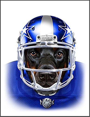 【ドーベルマン フットボールプレーヤー ラグビー いぬ 犬】 余白部分にオリジナルメッセージお入れします!ポストカード・はがき(白背景)