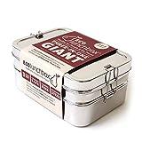 ECOlunchbox Three-in-One Giant, 3-teilige Brotdose aus Edelstahl, Lunchbox, Bento Box