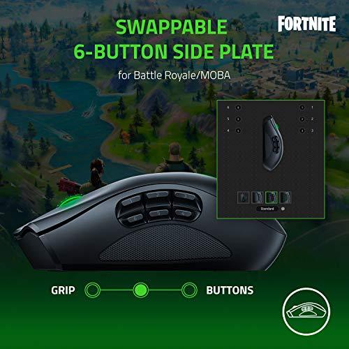 Razer Naga Pro - Modulare kabellose Gaming Maus für MMO, MOBA oder FPS Games mit austauschbaren Seitenteilen (HyperSpeed Wireless, 19 + 1 programmierbare Tasten) Schwarz