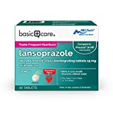 Amazon Basic Care Lansoprazole Delayed Release Orally Disintegrating Tablets 15 mg, White, Strawberry, 42 Count