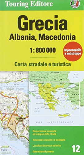 Grecia, Albania, Macedonia 1:800.000. Carta stradale e turistica. Ediz. illustrata (Carte d'Europa 1:800.000)