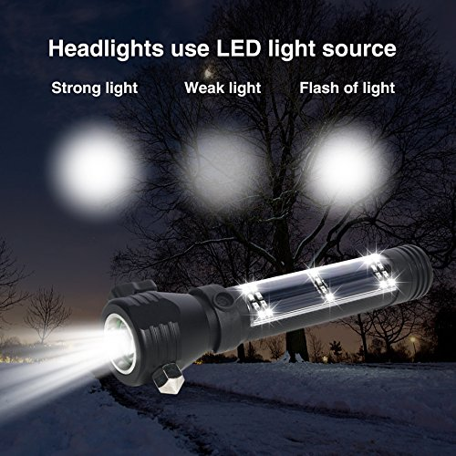 Brightest and Best LED Tactical Flashlights Set with Water Resistant : 200 Bright Lumen Flashlight & Mini 150 Lumen Flashlight,Solar Powered & USB Rechargeable,Perfect for Indoor & Outdoor, Camping