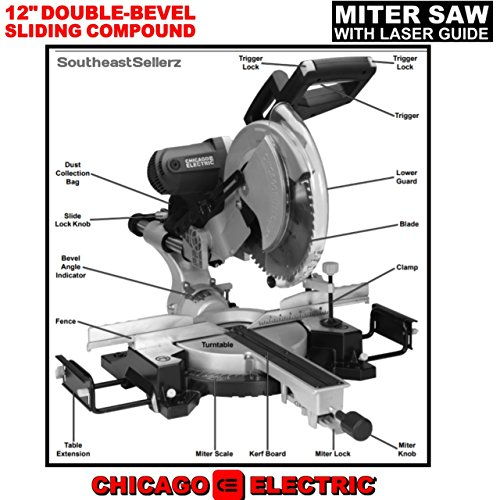 Chicago Electric 12-Inch Double-Bevel Sliding Compound ...