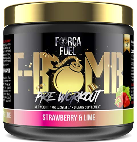 Pre Workout | Build Muscle | Burn Fat | Increase Strength and Performance | Enhance Focus | Reduce Fatigue | 250mg Caffeine | 6,000mg L-Citrulline | 3,500mg Beta-Alanine | Forca Fuel F-Bomb