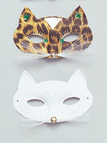 Cat Domino Eye Mask. White