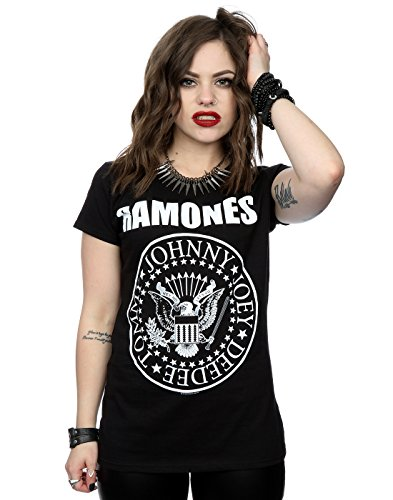 Ramones Women's Presidential Seal T-Shirt Small Black