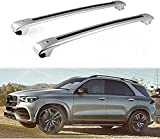 2 piezas Barra de techo Aluminio para Mercedes Be nz V167 GLE 2019 2020   Barras transversales para portaequipajes de techo   Soporte para techo de bicicleta para Exterior Deportes y Viaje