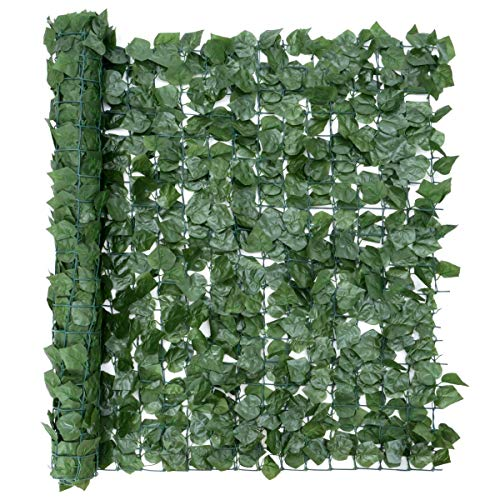 CHRISTOW Artificial Hedge Roll, Ivy Leaf Screening, Privacy Fence Screen, UV-Resistant, 1m x 3m (9ft 10' x 3ft 3')