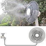 surfsexy Kit de riego por goteo micro sistema de enfriamiento al aire libre anillo de pulverización de baja presión sistema de enfriamiento para la producción agrícola de jardinería en el hogar