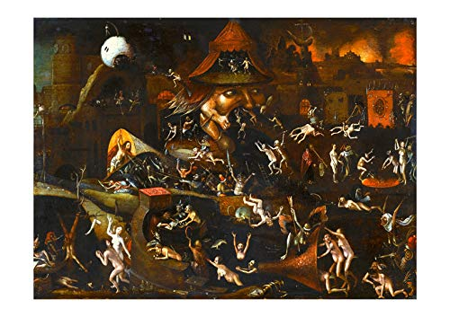 Spiffing Prints Hieronymus Bosch – The Harrowing of Hell Giclée – Mediano – Archival Matte – Enmarcado