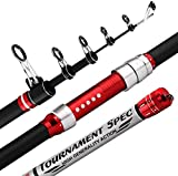 Miwaimao Canne à pêche en carbone pour pêche longue durée de la mer Pôle de pêche super dur pour festival Long Shot Ancre de lac Réservoir, 3.9m