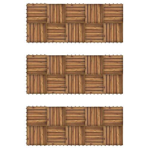 vidaXL 30x Acacia Tuile de Plancher Modèle Vertical Carreaux de Plancher