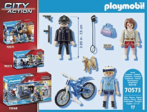 Policía en bicicleta persigue al carterista Playmobil - City Action (70573)