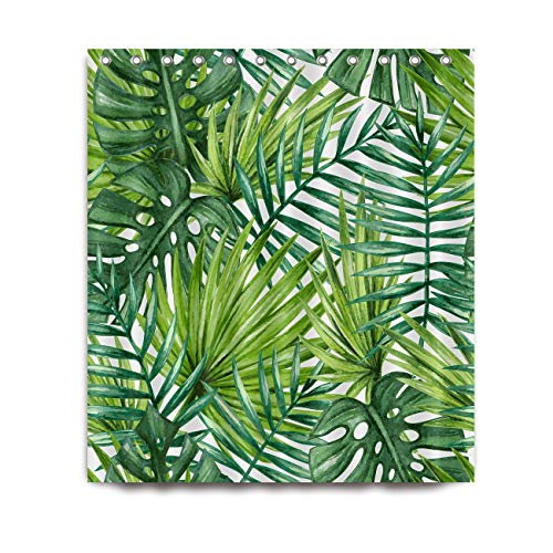 Douchegordijn, Tropical Plant Leaves Badkamer Waterproof Dik Drape Decoratie 150 X180cm (Color : 1, Size : 150 * 180cm)