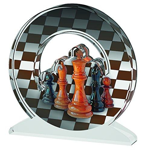 ACRYLATE TROPHÄE Trofeo acryloyldimethyl Ajedrez C Acrylic Trophy, marrón, S