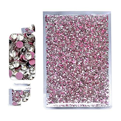 Bulk Wholesale Clear 14400pcs Paquete grande no caliente Fix Crystal Rhinestone ss3-ss30 Flat Back Nail Garment Stone