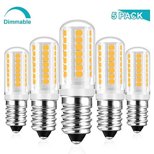 E14 LED Dimmbar Lampe Warmweiss, 5W Ersetzt 25W - 40w Halogen Lampen, Birne Leuchtmittel glühbirne, Warmweiß 2700K, 410LM AC 230V, 360° Lichtwinkel, 5er Pack, Viaus