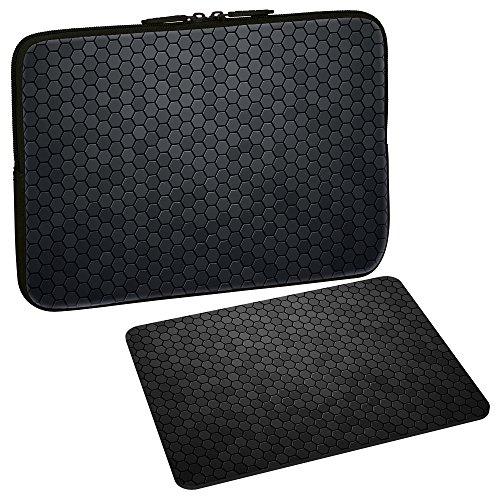 PEDEA Design Schutzhülle Notebook Tasche bis 15,6 Zoll (39,6cm) mit Design Mauspad, First One
