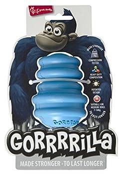 EUROPET Jouet pour Chien Gorrrrilla Classic Caoutchouc Moyen Blue, 7-16 kg