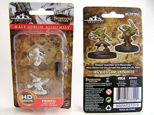 Dungeons & Dragons Pathfinder Deep Cuts Unpainted Miniatures W9 Male Goblin Alchemist Figure