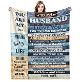 to My Husband Gifts Ultra-Soft Micro Fleece You are My Life Blanket Microfiber Fathers Day Blanket Luxury Blankets for Bedding Sofa and Travel (60'x50')