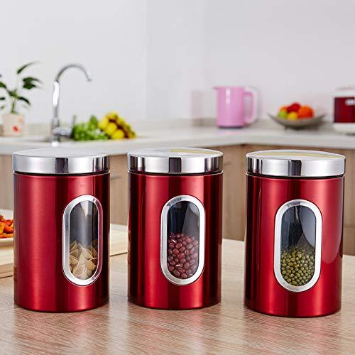 Abracing 1/3 st te kaffe socker förvaring behållare burkar krukor kök behållare burkar