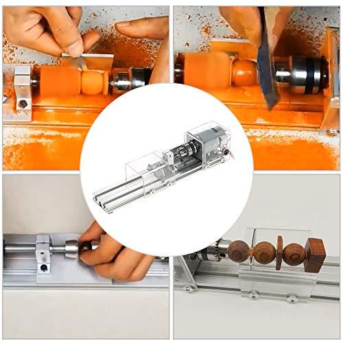 OPHIR Mini Wood Lathe Milling Machine DIY Wood Working CNC Mini Wood Lathe Tools 100W 24V