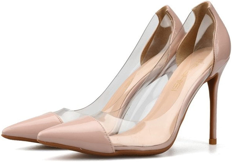CCBubble High Heels Clear Women shoes Transparent Pointed Toe Stiletto shoes Women