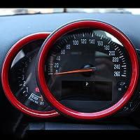 タコメータセンターディスプレイステアリングホイールエアベントフレームカバーキャップケース Tachometer Centre Display Steering Wheel Air Vent Frame Cover Cap Case for Mini Cooper ONE S JCW F Series Clubman Countryman Hardtop Hatchback (F60 Countryman Tachometer, Red)