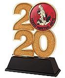 Trophy Monster Trofeo de artes marciales mixtas MMA 2020, oro, plata o bronce, hecho de acrílico impreso, 120 mm (bronce)