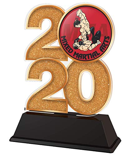 Trophy Monster 2020 MMA - Trofeo de Artes Marciales Mixtas (Oro, Plata o Bronce, Hecho de acrílico Impreso, 120 mm)