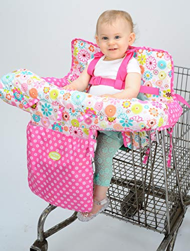 Nuby Baby Shopping Cart Cover and High Chair Cover 2 in 1, Ditsy Floral, High Chair Cushion, Baby...